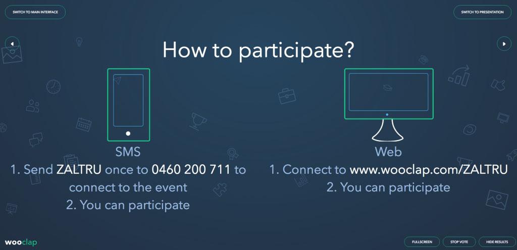 wooclap event